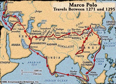 Apwhod Licensed For Noncommercial Use Only Marco Polo - Places visited map